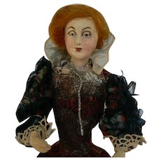 Vintage Kimport Kimcraft Queen doll with Original stand