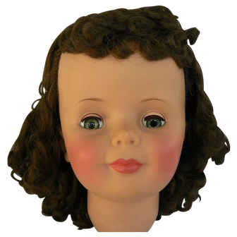 Vintage Ideal Patti Play Pal doll head near mint great color and hair.
