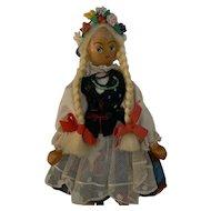 Vintage Wood Polish Doll all original.