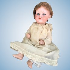 A.M. 700 Character Bisque Head Doll Pouty Closed Mouth and Hard to Find.