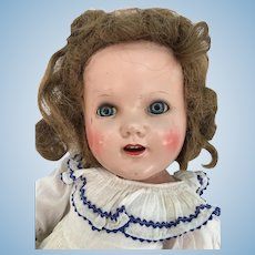 Large 24 inch all composition doll marked U.S.A. on head, blue eyes