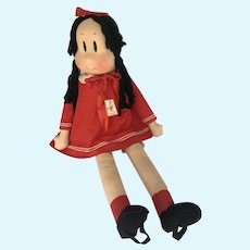 Very Rare 40 inch LARGE size Georgene Little Lulu Doll all original and tagged.