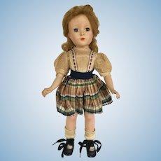 50's 14 inch Made In USA Hard Plastic doll original dress cute doll