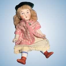 German all bisque doll wire jointed cute