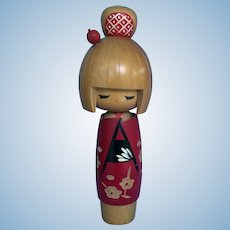 Vintage Kokeshi doll larger size all wood