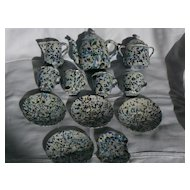 Rare End of Day Confetti Graniteware Childs Tea set