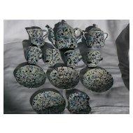 Rare End of Day Confetti Graniteware Childs Tea set