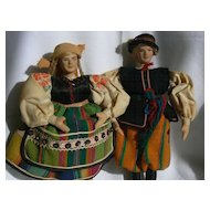 OLD Vintage German Dolls Dancing couple.