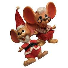1970 Roy Des. Of Fla. Christmas Santa Mouse n Mrs. Claws all original Banks