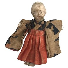 Tiny Gofun Ichimatsu Japanese doll