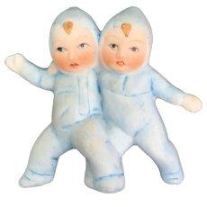 Vintage Blue Snow-babies huggers