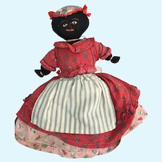 Old Vintage cloth doll Topsy Turvey handmade