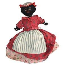 Old Vintage cloth doll Topsy Turvey handmade