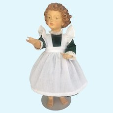 Vintage Italian Dolfi Wood Jointed doll 13 inches tall