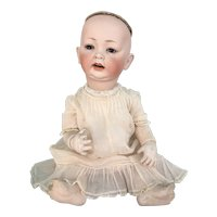 German bisque head baby doll #152 18 inches long