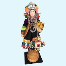 Vintage Ethnic Doll very pretty n great detail
