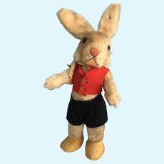 Vintage Steiff Dressed Rabbit with button.