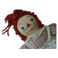 Georgene Raggedy Ann Flesh color body tag all Original