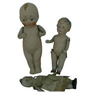 3 German All Bisque Dolls all for one ..........