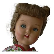 Vintage 50's Plastic Molded Arts Co. Walking Doll Flirty eyes.