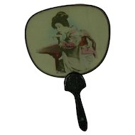 Old silk doll size fan great for your OLD doll to use.
