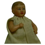 Vintage Celluloid Baby BOY doll Marked USA and dressed.