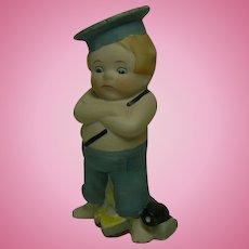 German Bisque Boating Boy doll figurine sweet