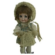 Vintage OLD French doll Bonnet and Muff Very NIce Look.