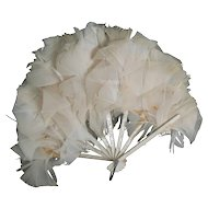 OLD doll size feather fan Great for a big doll, look