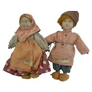 Old vintage Russian Pair of Dolls all original