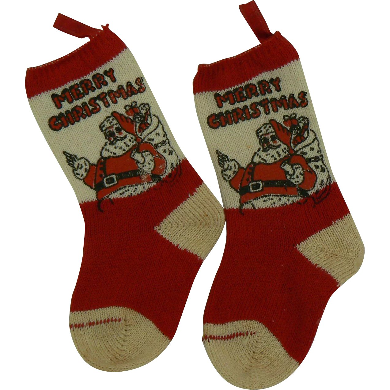 Vintage Christmas Stockings.Vintage Christmas Socks Or Stockings Great For A Doll Or Teddy Bear Old And Cute