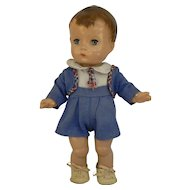 1940's Effanbee Candy Kid boy doll original outfit and shoes CUTE.
