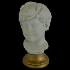 OLD vintage Boy Bust great for you doll house or doll dresser.