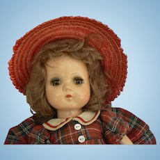Madame Alexander Jeannie Walker Composition doll all original with replacced shoes 13 inch size nice