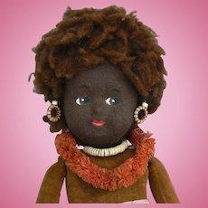 Norah Wellings Large Black Island Girl Doll all original and cute.
