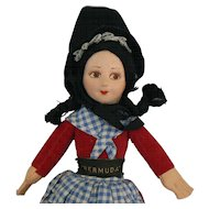 8 inch Norah Wellings cloth doll all original and tagged