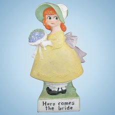 Bisque Shafer Vater Here Comes The Bride Girl Vase doll.