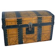 OLD Vintage doll trunk with tray Great for any French or German Doll.