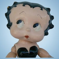 1930's Cameo Betty Boop Doll compo and wood with sticker cute as can be....