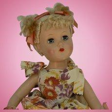 Arranbee Nanette or Nancy Lee 14 inch hard plastic doll all original Silk Floss Hair in origginal set NIce.