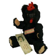 Vintage Old Black Berlin Bear  fully jointed and all original and cute.