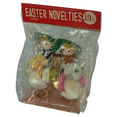 Vintage Easter Chicks with Riders on back, in original pack never opened.
