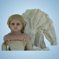 English Poured Wax Doll all original and very sweet.