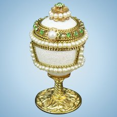Doll size Jeweled Egg Box that opens and very sweet.