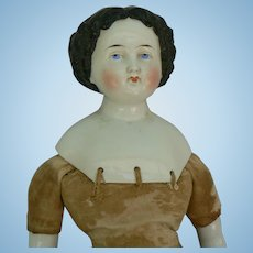 21 inch China Head doll OLD and a nice body, ready to dress.