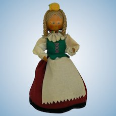 Vintage Wood Polish Doll all original.