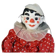1930's Effanbee Clippo the Clown Marionette all original and nice.
