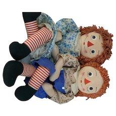 31 inch Georgene Raggedy Ann and Raggedy Andy Dolls all original and tagged.