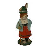 Early German Easter Bunny Candy Container needs TLC.