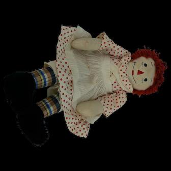 Vintage Handmade Raggedy Ann Doll